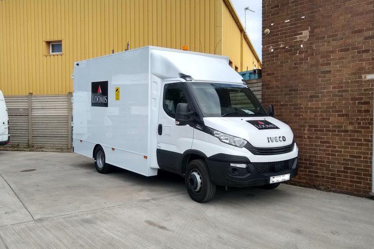Cash in Transit version of van vehicle