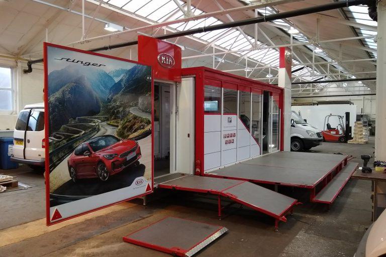 Exhibition trailer construction