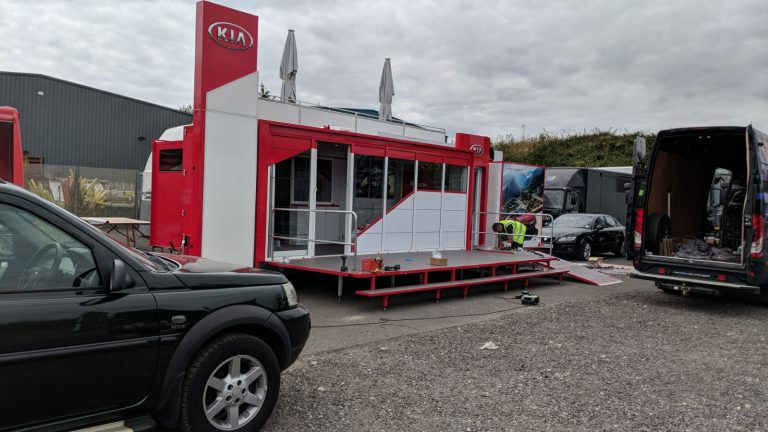 6 metre exhibition trailer