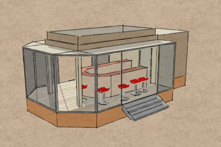 Catering trailer drawing