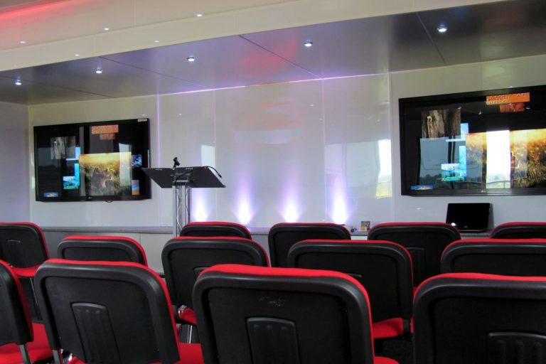 Event trailer interior