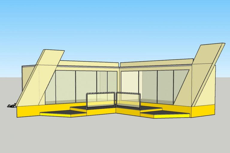 Two exhibition trailers CAD drawing