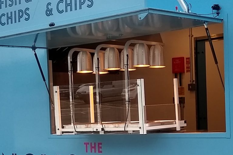Catering Trailer counter