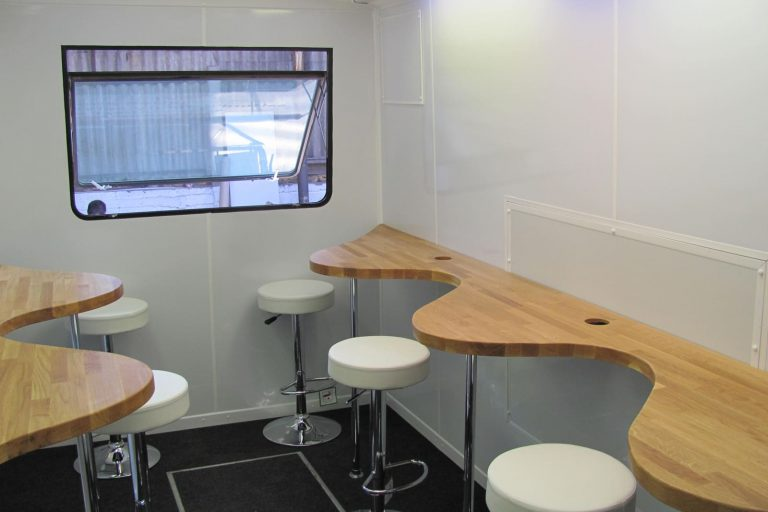 Catering vehicle table