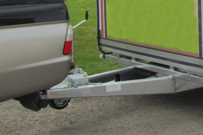 Drawbar trailer A Frame
