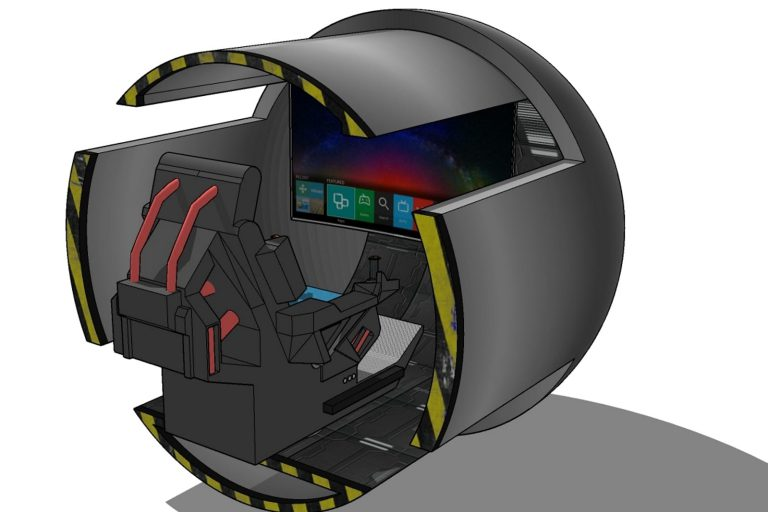 Gaming kiosk CAD drawing