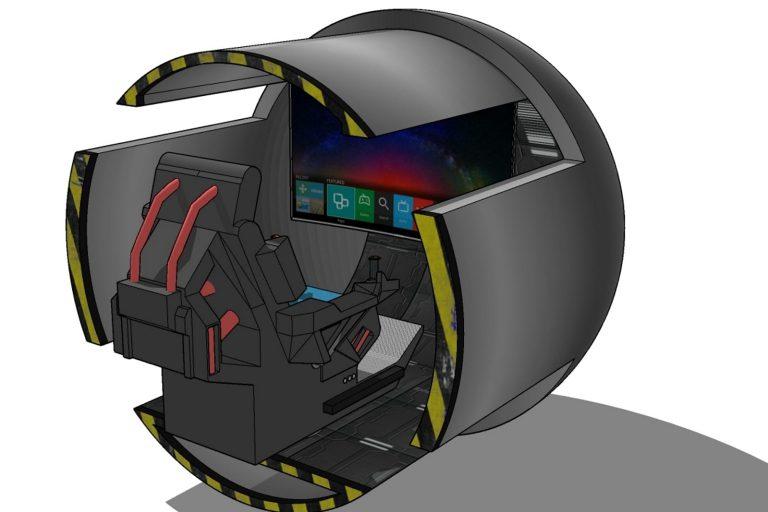 Gaming kiosk CAD drawing