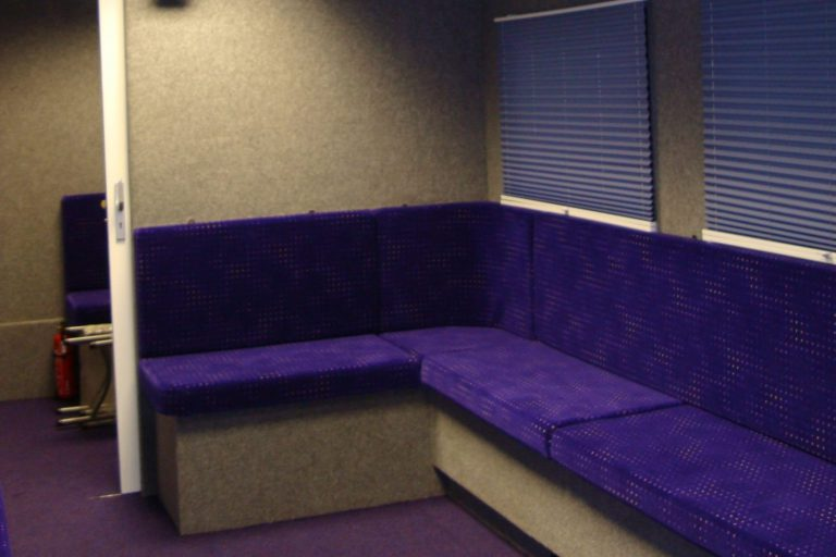 Hospitality trailer with seating