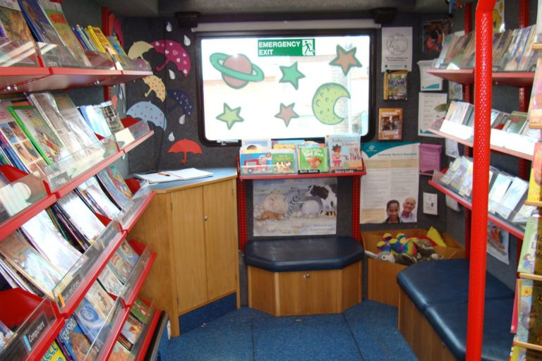 Mobile library interior