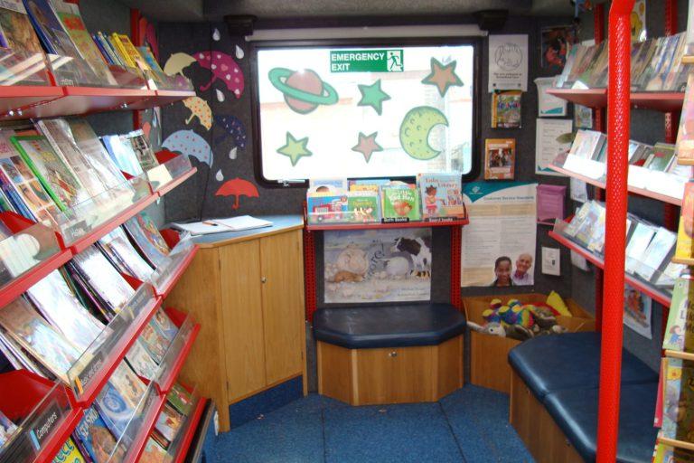 Mobile library interior