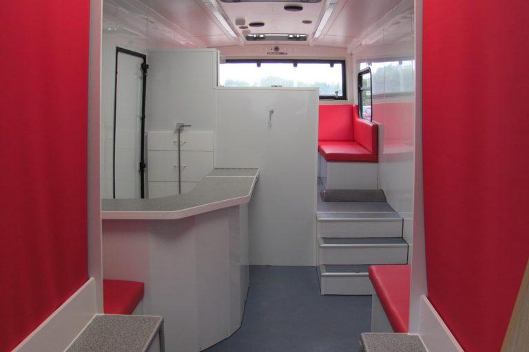 Outreach bus interior