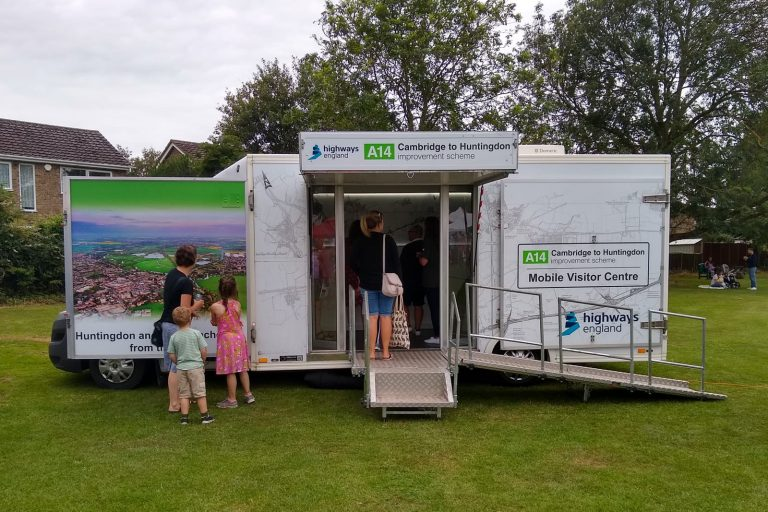 Roadshow vehicle at public events