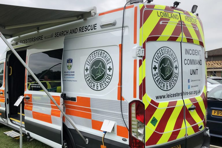 Search and rescue vehicle graphics