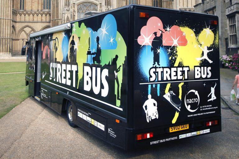 Vehicle graphics on bus