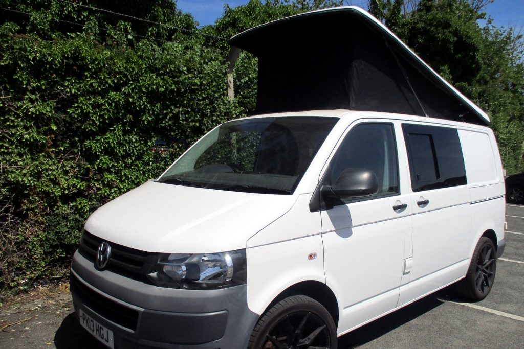 day van from front showing raised roof