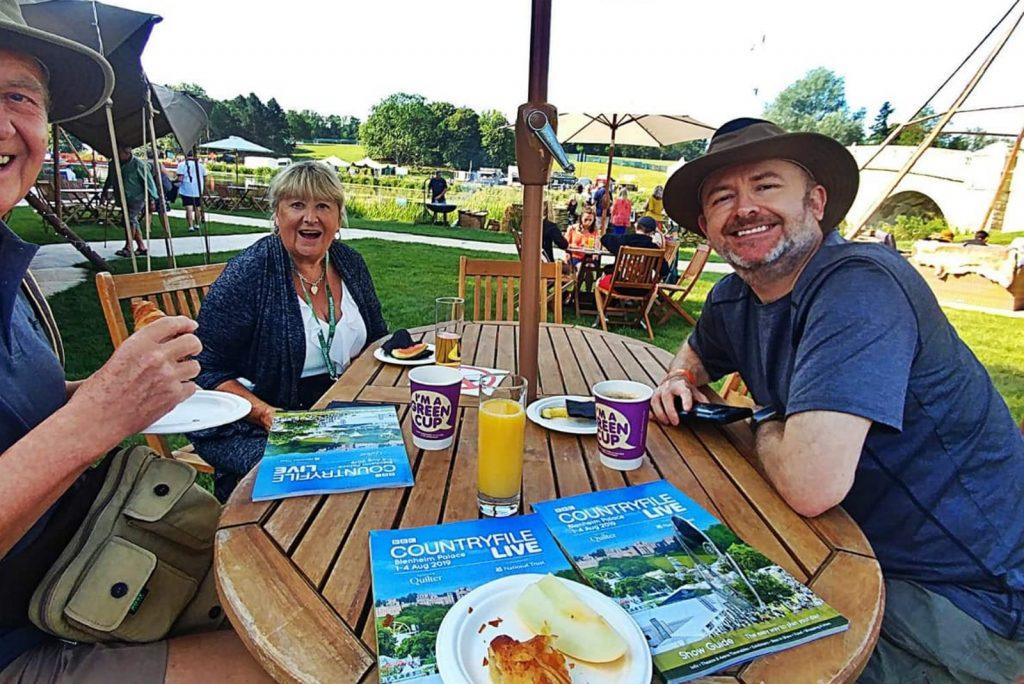 happy customers enjoying outdoor catering