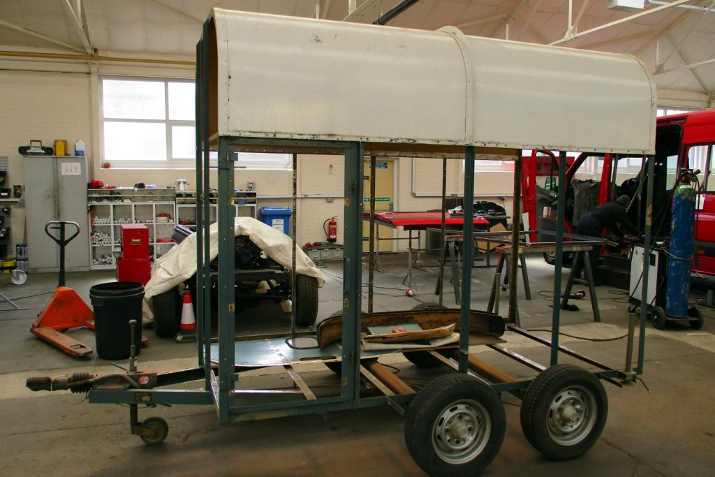 catering-trailer-for-sale whilst in production