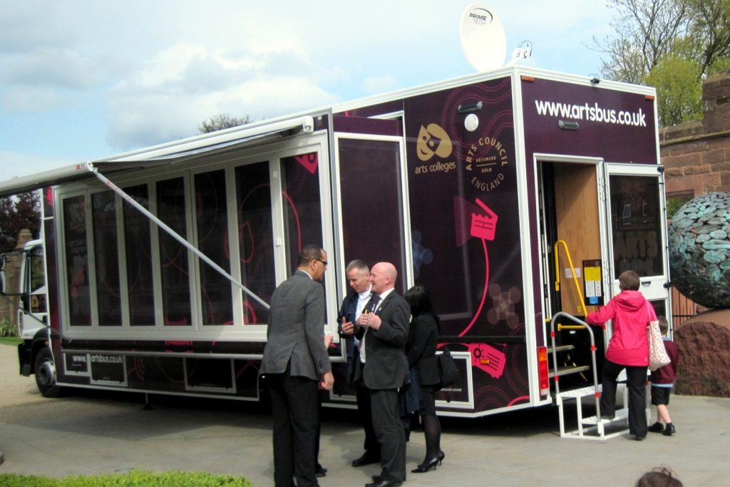 increase the size of your exhibition trailer with a gull wing extension