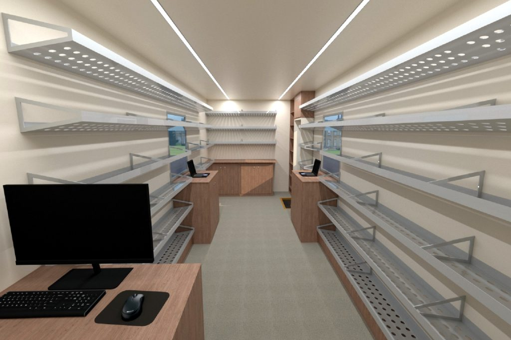 interior of mobile library
