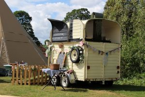 old horse box converted into a catering trailer