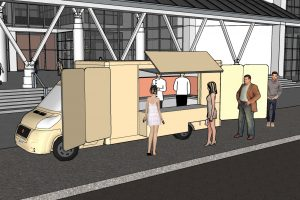 A food truck creative visual
