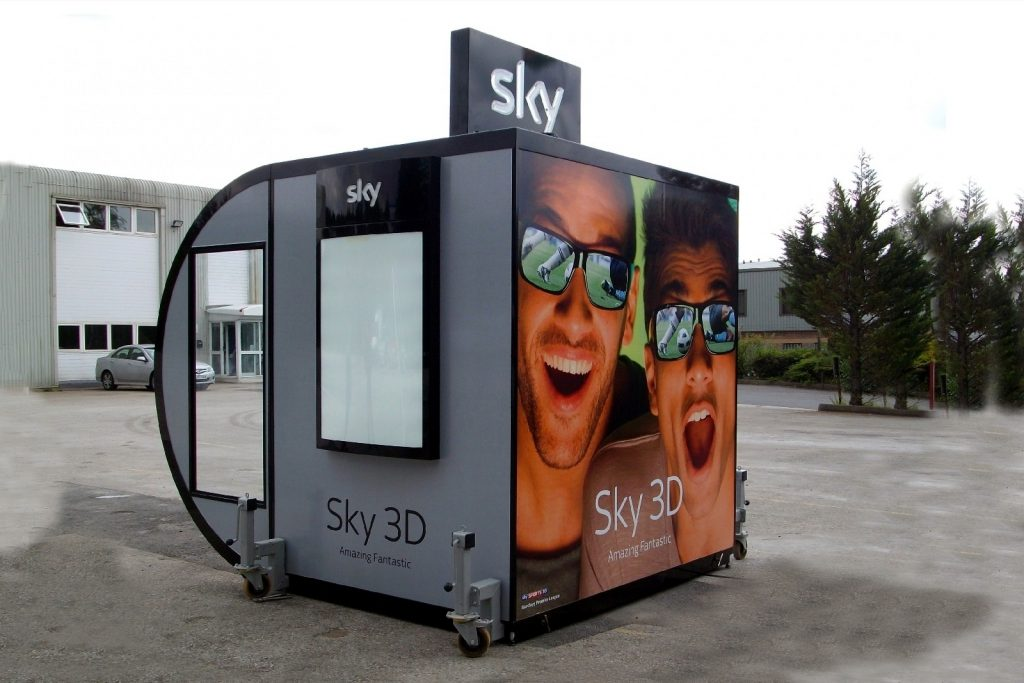 rear view of the sales kiosk for sale